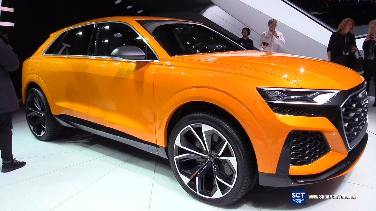 2018 audi q8 sport concept exterior walkaround debut 2017 geneva motor show youtube. Black Bedroom Furniture Sets. Home Design Ideas
