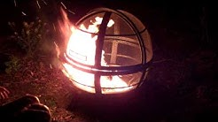 Landmann Ball of Fire fire pit in action