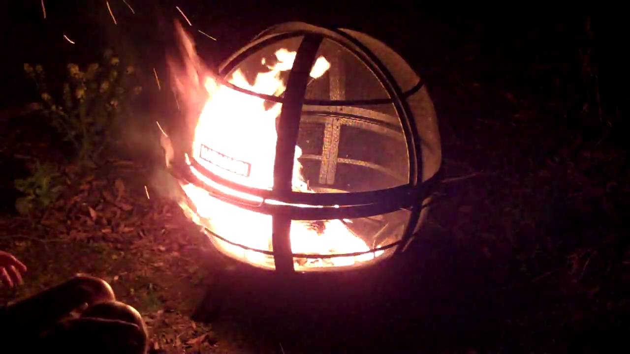 Landmann Ball Of Fire Fire Pit In Action Youtube