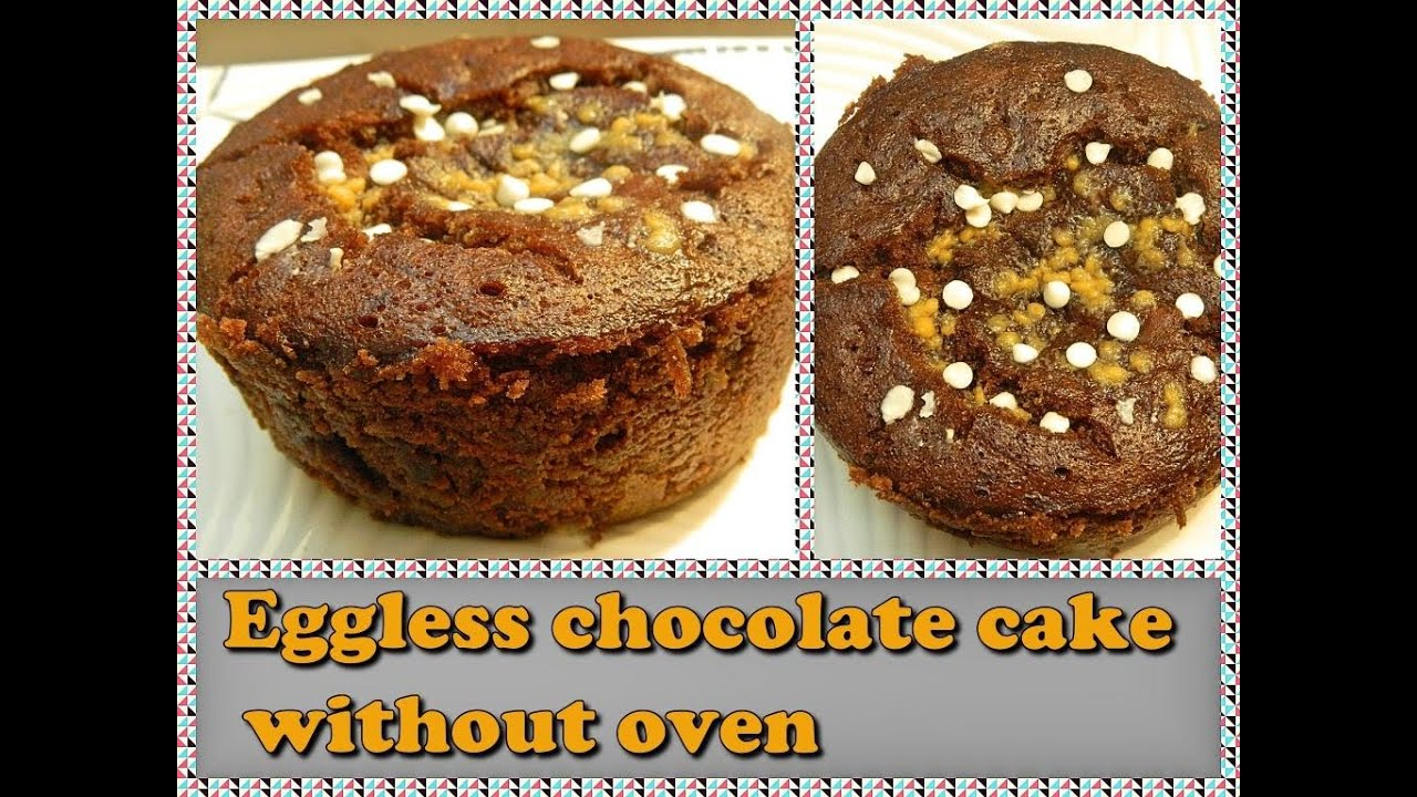 Eggless Chocolate Cake In Cooker Or Eggless Cake Without Oven Biscuit Cake In Cooker Youtube