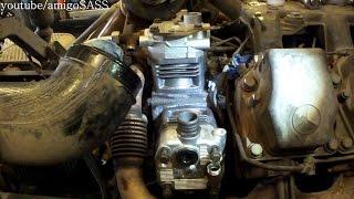 замена компрессора mrcedes actros mp1 mp2 air compressor replacement