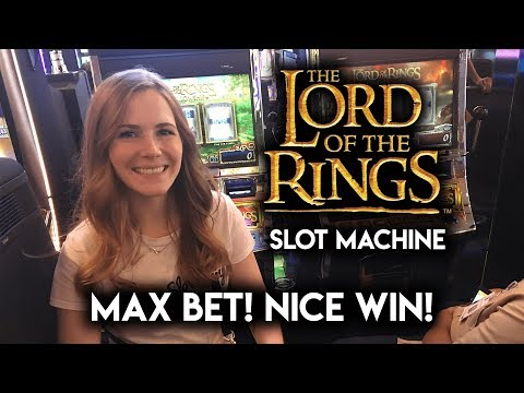 Nice Win on The Lord Of The Rings! Slot Machine! Max Bet Free Spins!!! GREAT RUN!