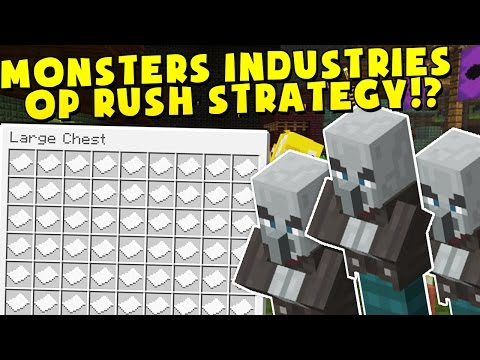 HUNDREDS OF KILLER BUNNIES Minecraft MONSTERS INDUSTRIES 2.0 - EPIC SECRET UPDATED MAP