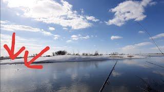 Мартовская щука Рыбалка на реке ишим