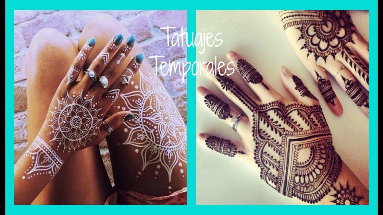 Como Hacer Tatuajes Temporales De Henna Fácil Y Rápido Youtube