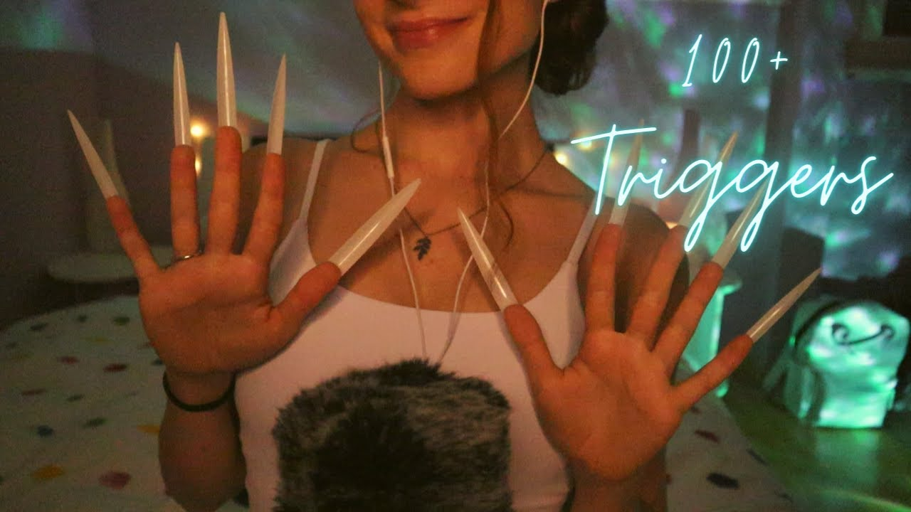 ASMR | 100+ TRIGGERS IN 5 MINUTES (w. Extreme Long Nails)