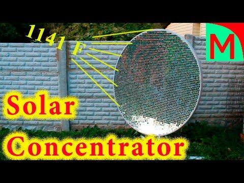 Solar concentrator. 1141 F !!!  2480 mirrors !!!