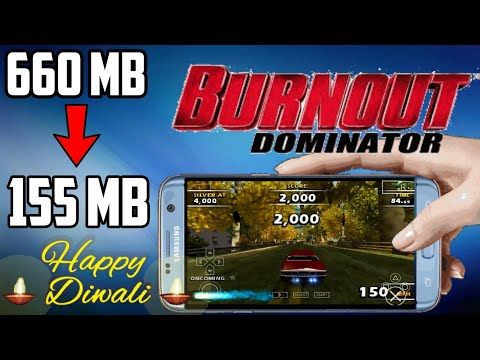 (155 MB) Burnout Dominator HD Graphics Highly Compressed PSP Iso Download For Android | Hindi