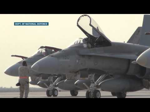 RAW: CF-18 jets arrive in Kuwait