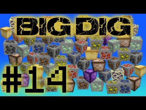 Minecraft Big Dig - Enchanting and Induction Furnace #14