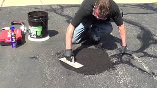 Driveway Pothole Repair -  Asphalt Patch - Trowel Pave