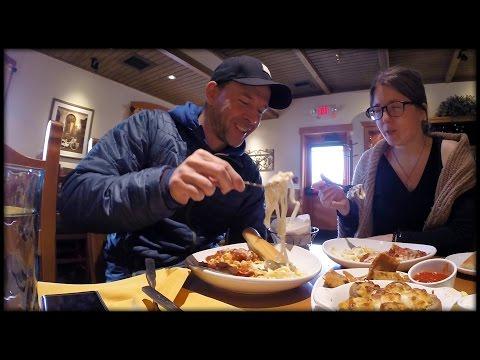 ВЛОГ Итальянский Сетевой Ресторан Olive Garden 2017 (Eugene Vlogs & Kate)