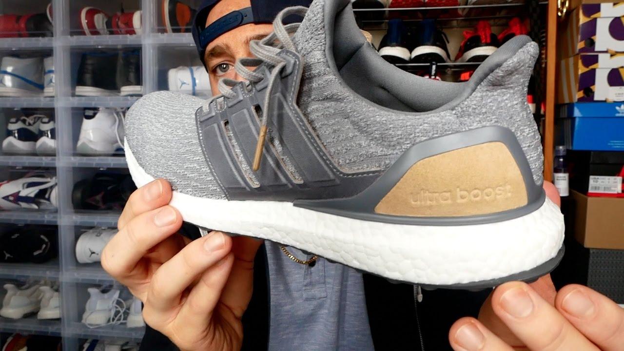 feda4e9907a Adidas Ultra Boost LTD Premium Grey Review   On Feet!! - YouTube