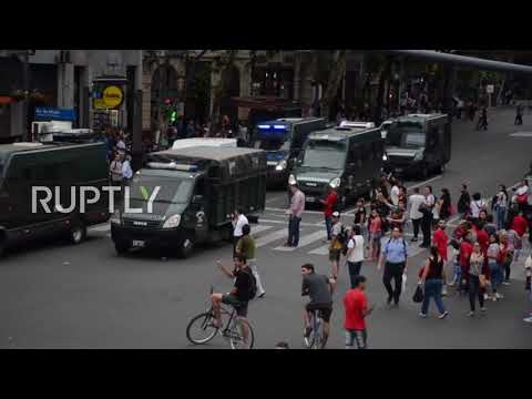 Argentina: Thousands rally against government pension reforms in Buenos Aires