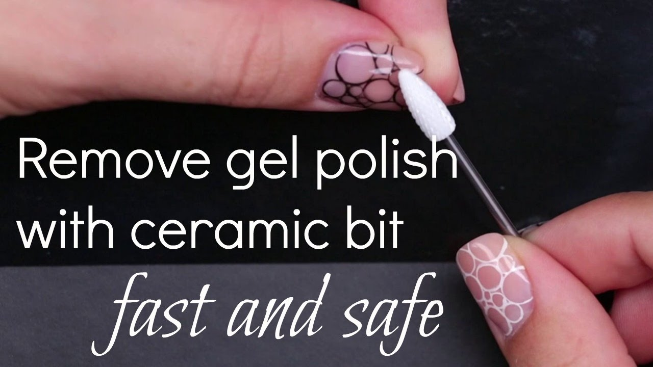 How to remove Gel Nail Polish with electric file Tutorial | No soak ...