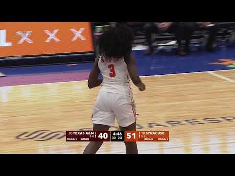 Syracuse women's basketball defeats Texas A&M 75-65; Mangakahia scores 26