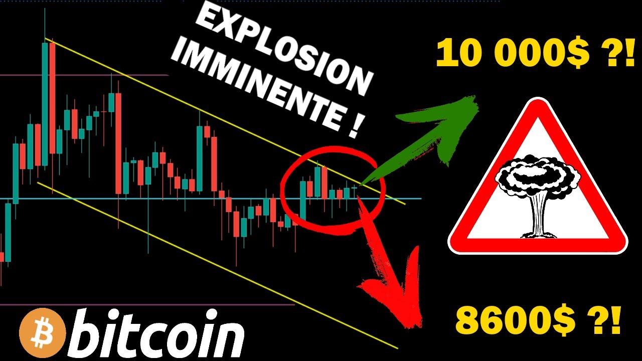 BITCOIN - ATTENTION L'EXPLOSION EST IMMINENTE ! analyse bitcoin btc crypto monnaie fr