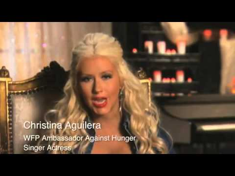 ASIA1TVNet: CHRISTINA AGUILERA on WORLD HUNGER (FAO)