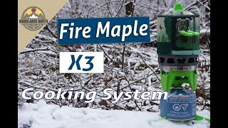 Fire Maple Fixed Star X3 Cooking System - Jetboil alternative