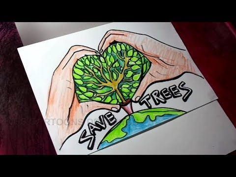 how to draw save trees save earth poster drawing for kids free download video mp4 3gp m4a tubeid co
