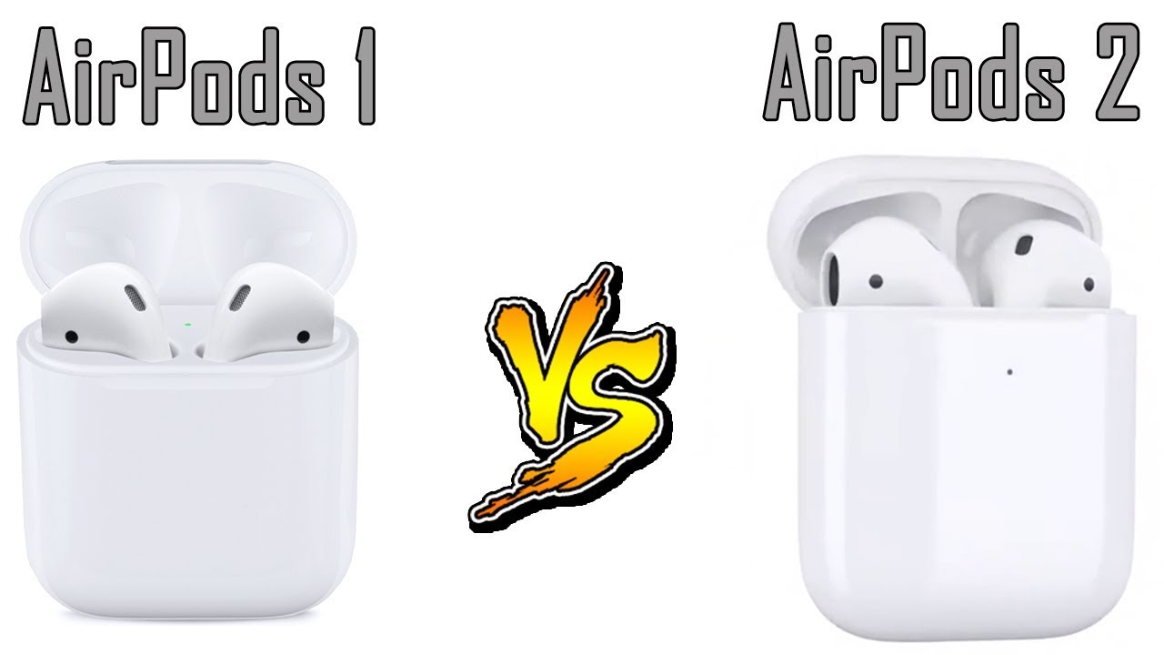 airpods 1 vs 2 box difference