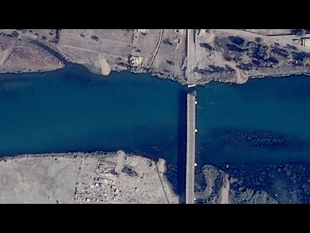 Satellite Imagery: The Cutting of Mosul's Bridges