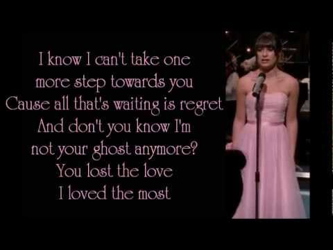Glee - Jar Of Hearts (lyrics)
