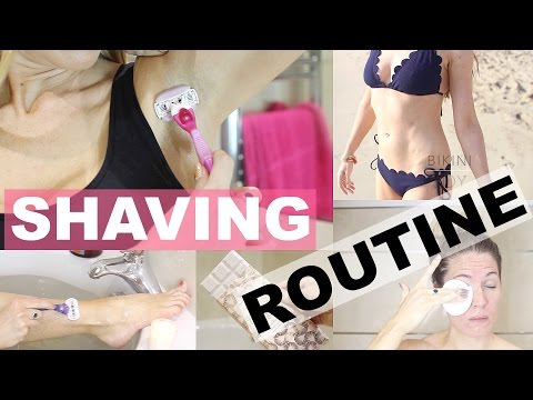 MY SHAVING AND PAMPER ROUTINE!
