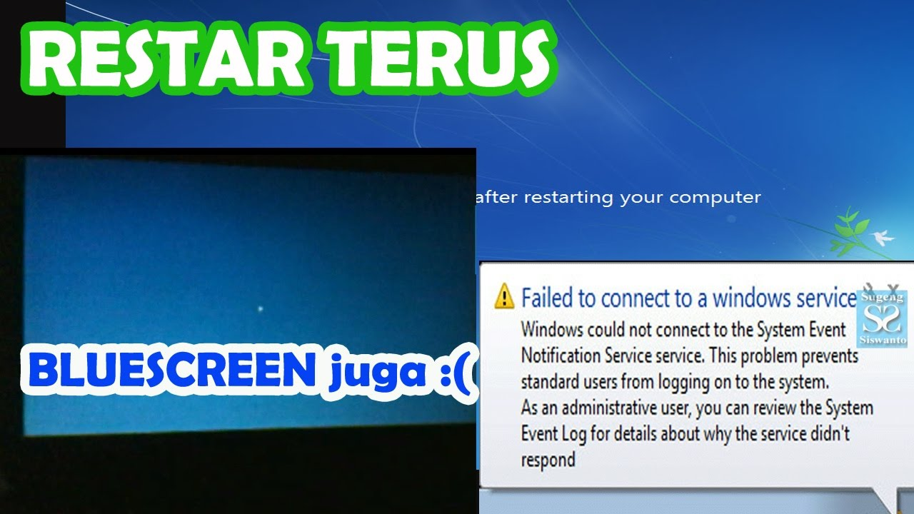 Mengatasi Windows Restart Terus Failed To Connect To A Windows