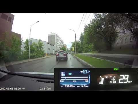 Расход топлива гибрида и основы езды в городе (Toyota Prius Alpha)