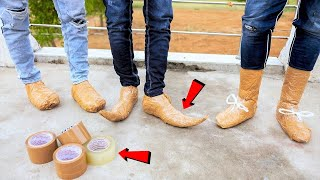We Made Shoes of tape | टेप के जूते | Will These Work?