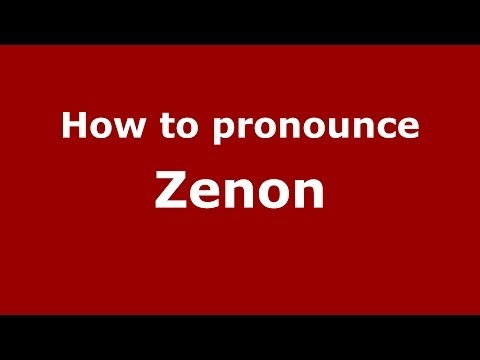 How to pronounce Zenon (Polish/Poland) - PronounceNames.com