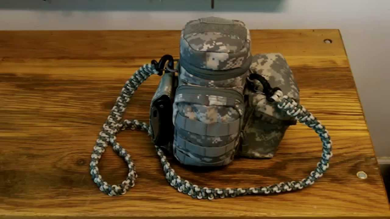 da90bfeca4b2 Condor Water Bottle Pouch - Day Hike Survival Camp Cook Kit. - YouTube