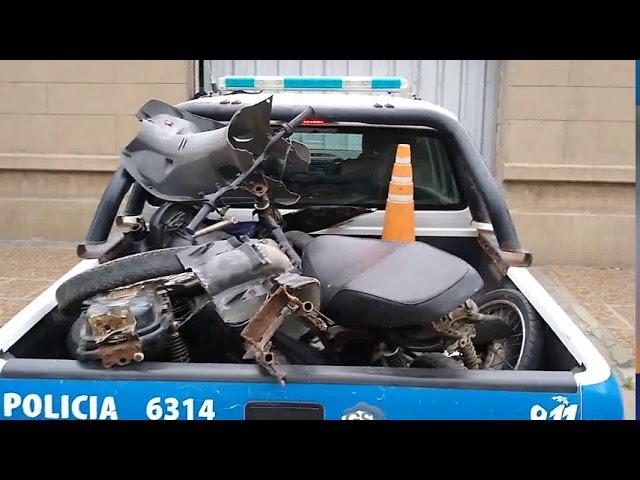 Recuperaron la moto robada