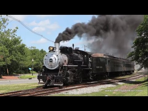 Steam Locomotive #60 Of The  Black River & Western Railroad Steams At Flemington, New Jersey