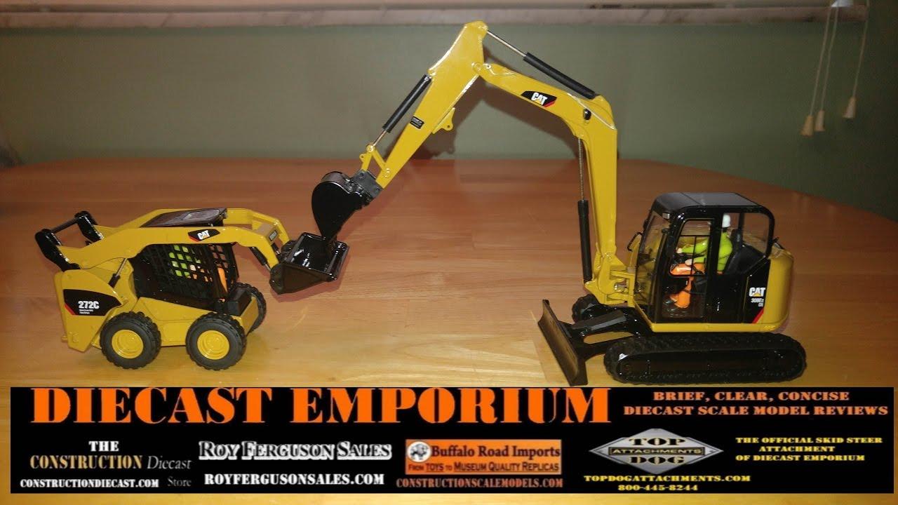 Diecast Masters Cat 308e2 Cr Sb Mini Excavator And 272c