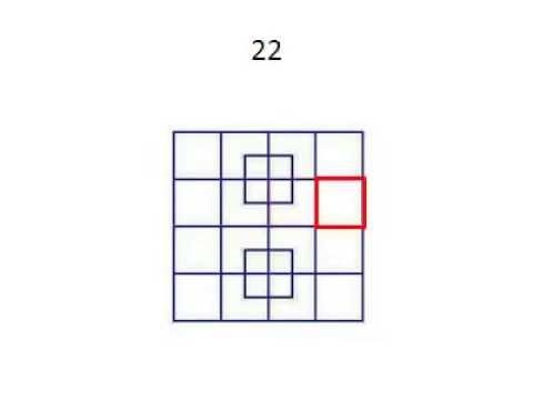 quanti quadrati ci sono in questa immagine youtube