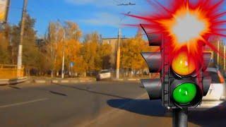 видео Штраф за проезд на  красный сигнал светофора в 2016 году