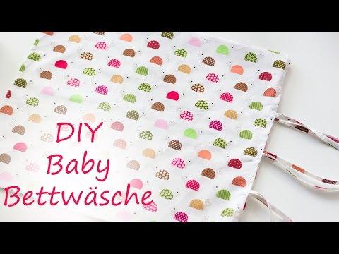 Diy Baby Bettwäsche Einfach Selber Nähen Youtube