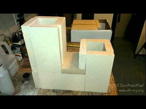 323 Rocket Stove J Tube Construction Wood Burning Youtube