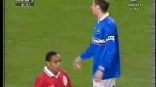 Duncan Ferguson throwing Paul Ince to the floor