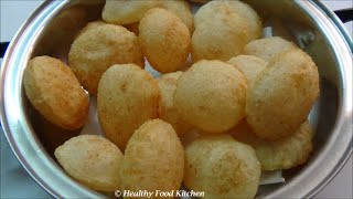 easy recipe of suji ke golgappe