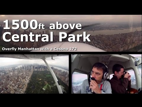 1,500 ft above Central Park and Manhattan with a Cessna [FarNorthEast'12 ep.9]