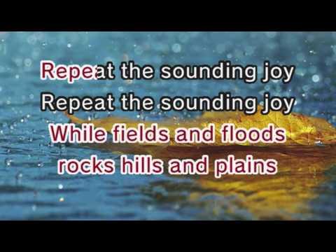 Christmas Carols - Joy To The World (Karaoke and Lyrics Version) - YouTube