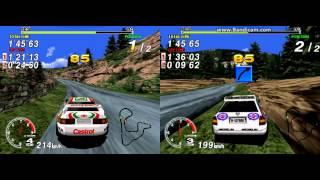 Sega Rally - 2 Player LAN game (Model 2 Emulator)  Forest Stage