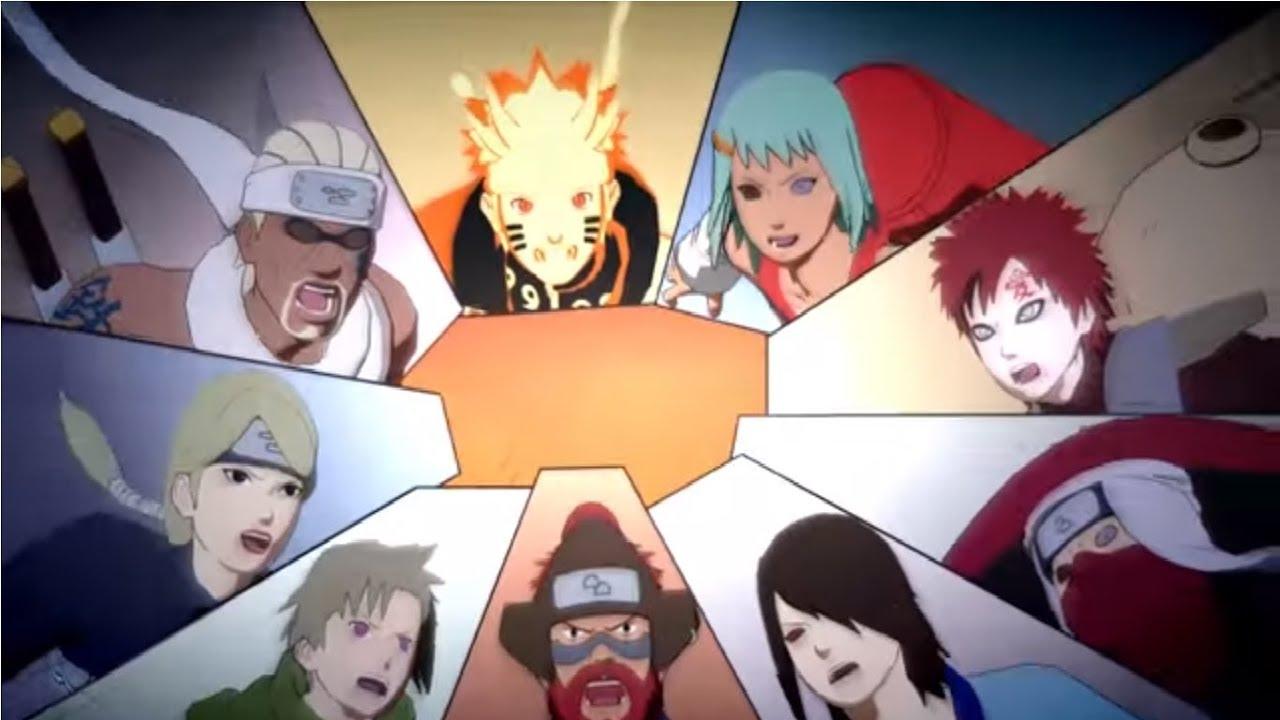 Naruto Shippuden Naruto & Gaara vs Killer Bee vs Yugito vs