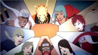 Naruto Shippuden Naruto & Gaara vs Killer Bee vs Yugito vs Yagura vs Roshi vs Han vs Utaka vs Fuu