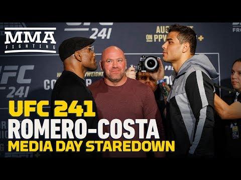 UFC 241: Yoel Romero vs. Diego Costa Media Day Staredown - MMA Fighting