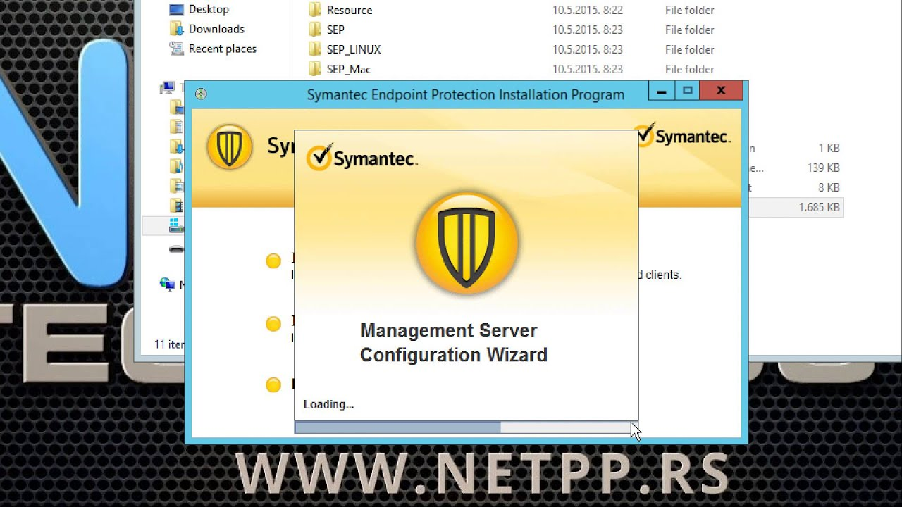 How to install/Kako se instalira Symantec Endpoint Protection Manager  (SEPM) 12 1 6