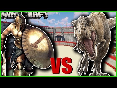 Minecraft - SPARTAN WEAPONS MOD | SPARTANS VS DINOSAURS